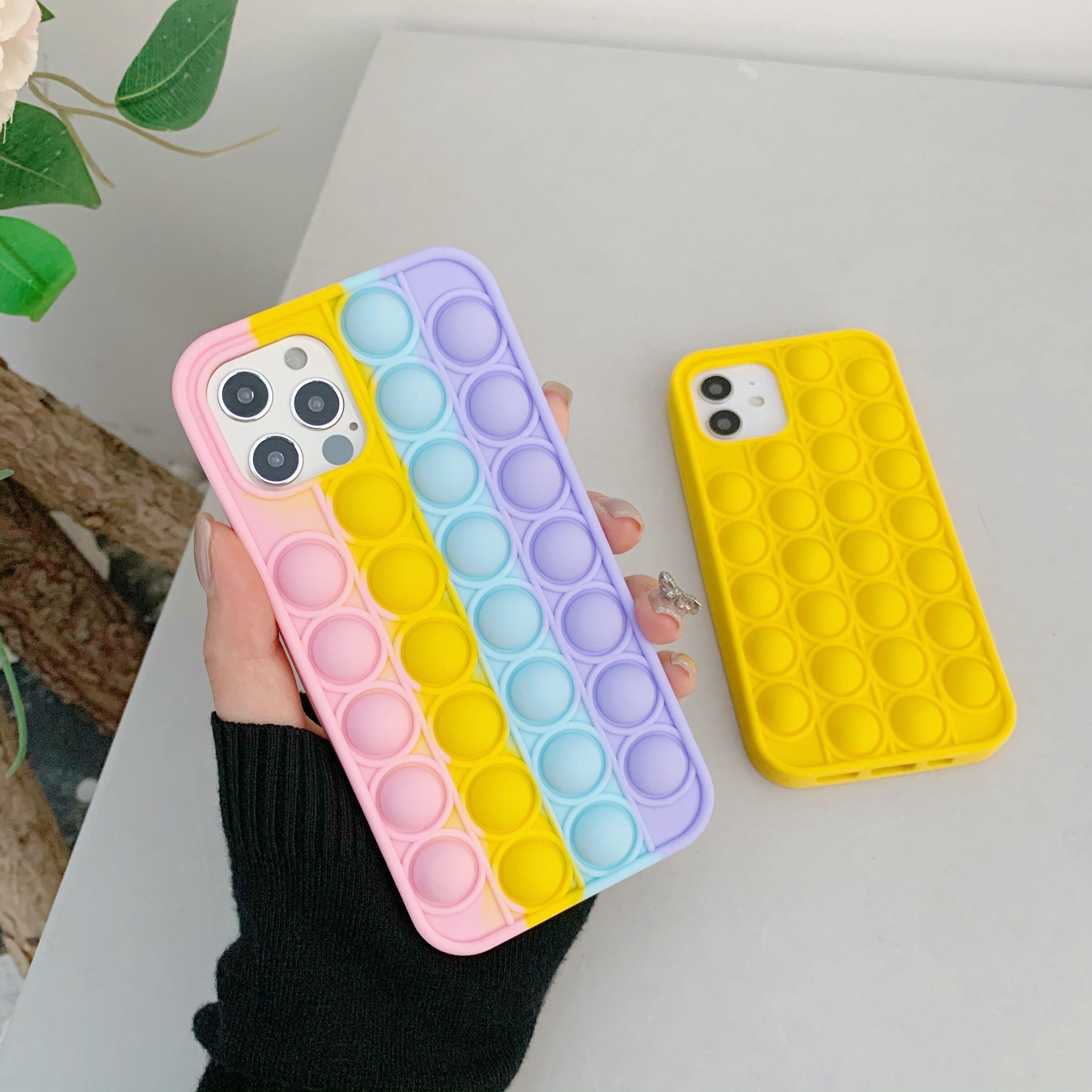 Модный Радужный силиконовый чехол для телефона Iphone 6 6s 7 8 Plus X XR XS Max11 12 Pro Max, чехол для снятия стресса