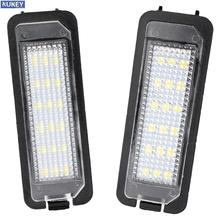 2 pçs universal 12v 18 led luzes da placa de matrícula do carro lâmpada cauda lâmpadas para vw golf 4 5 6 gti passat b6 lupo scirocco polo
