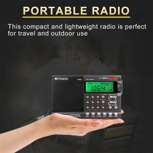 Image 2 - Retekess TR608 FM MW SW 라디오 에어 밴드 디지털 휴대용 여행 라디오 24 시간 시간 시계 수면 타이머