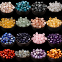 A+Natural Stone Colorful Round Tiger Eye Ctrines Amazonite Turquoises Agates Gemstones Loose Beads For Jewelry Making DIY