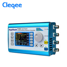 цена на Cleqee 20MHz DDS Arbitrary Waveform Dual Channel High Frequency Signal Generator 200MSa/s 100MHz Frequency meter FY2300