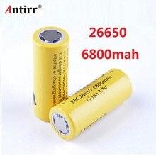 Литий ионные аккумуляторы Antirr 26650, 6800 мАч, 3,7 в, 26650 защищенные, 26650