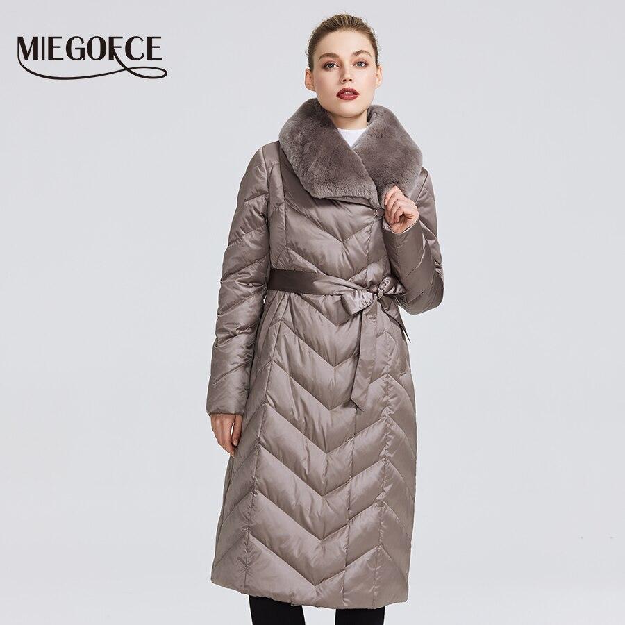 MIEGOFCE 2019 nouvelle Collection veste femme avec col lapin femmes manteau d'hiver couleurs inhabituelles qu'une Parka d'hiver coupe-vent