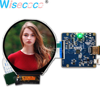 Wisecoco 3.4 inch 800×800 MIPI 39 pins circular display LCD screen round panel HDMI to MIPI controller board for Industrial