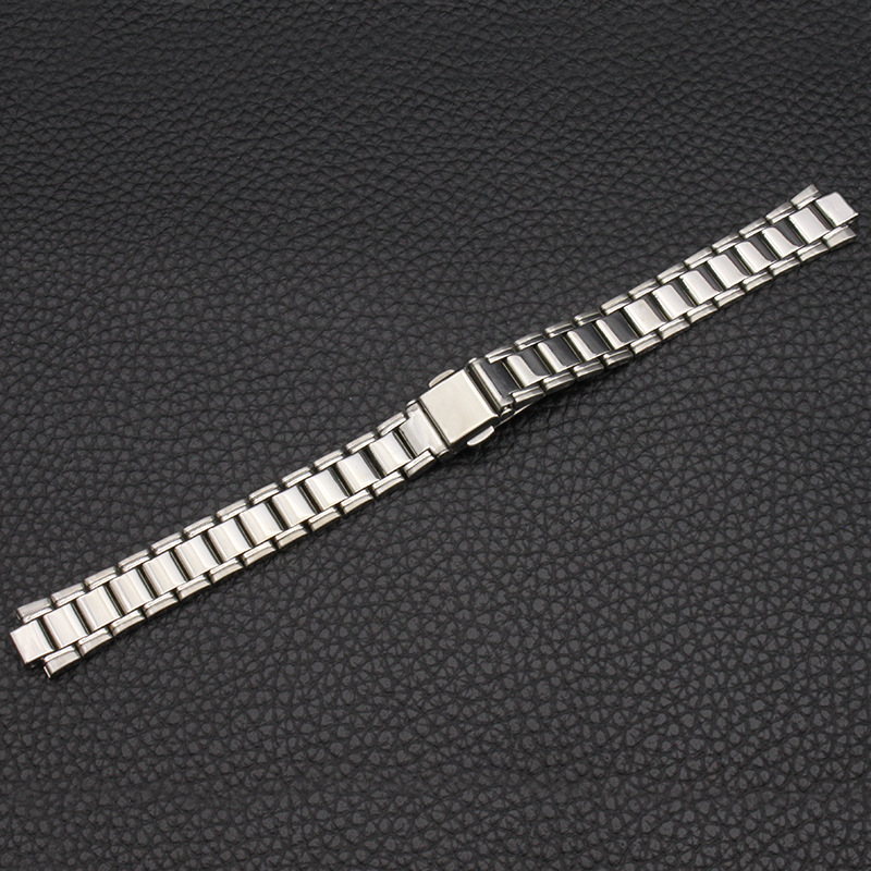 Watch Accessories (Band) Stainless Steel Watch Band Watch Strap WOMEN'S Bag Piece Belt Watch Bracelet Protruding Opening 14*7 Mm