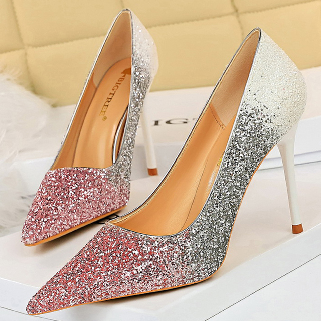 Luxury  Colorful Sparkly Sequin Pumps  3