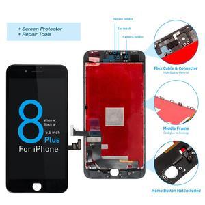 Image 5 - Montagem completa tela oem para iphone 8 mais display lcd digitador substituição com câmera frontal + alto falante placa pantalla