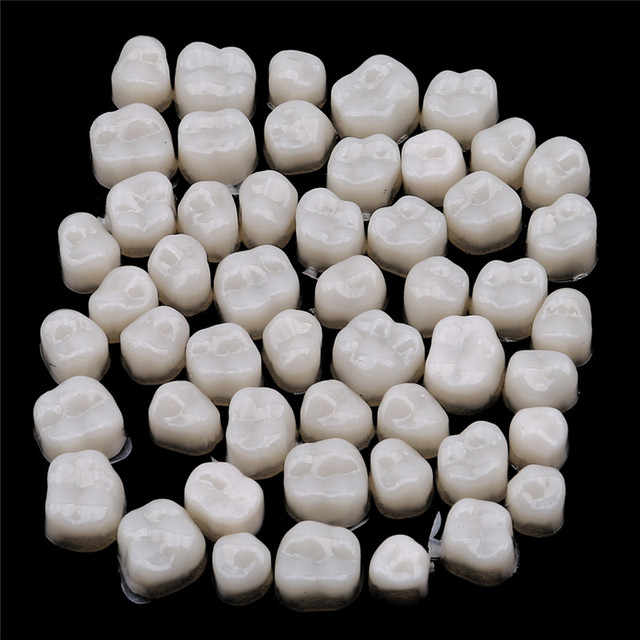 1Set Crown Realistic Oral Care Teeth Whitening Anterior Molar Crown Dental Crowns Resin Porcelain Materials Temporary Teeth