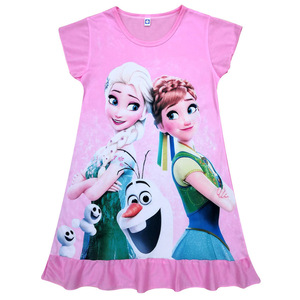 Summer Dress For Girl Princess Party Holiday Cartoon Elsa Dress Girls Children Costume for Kids Dress Clothes 3-10 years