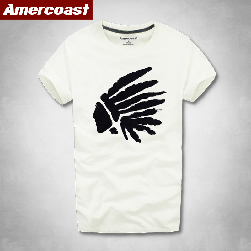 Amercoast Shop Unisex Men's and Women's Summer New T-shirt street fashion Letter Printed Cotton Fashion T Shirt graphic t shirts(China)