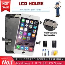 Полный комплект ЖК-экрана No.1 для iPhone 7 8 Plus, сменный сенсорный ЖК-экран с дигитайзером, фронтальная камера AAA
