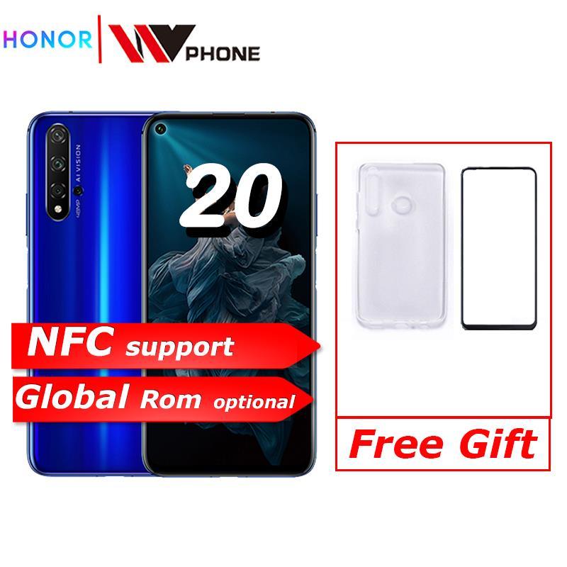 Honra 20 honra 20 pro nfc telefone móvel kirin 980 android 9.0 6.26 polegada tela 3750 mah bateria smartphone