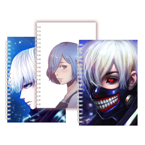 Anime Tokyo Ghoul Mask COSPLAY Spiral Notebook Horror Characters Kaneki Ken Hunger Red Eye 3D Zombie Rock Sketch Book Blank Page(China)