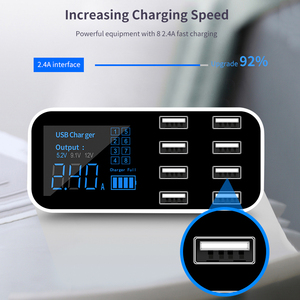 Image 4 - KEBIDU 8 マルチポート充電ステーションの Usb アダプター車の充電器スマートディスプレイステーション 40 ワット Iphone サムスン Xiaomi huawei 社 12 V 24 V