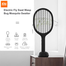 Xiaomi Solove P1 Electric Mosquito Swatter Double Size Anti-Electric Shock Net Insect Bug Fly Mosquito Dispeller UV Light(China)