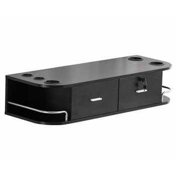 Two Smoke Wall - Mounted Beauty Salon Table Black - discount item  7% OFF Commercial Furniture