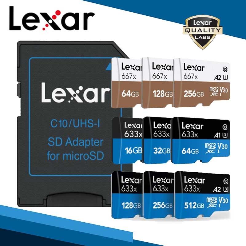 Carte mémoire Lexar micro sd 128 go carte mémoire micro sd 256 go livraison gratuite carte tf 512 go cartes sd gopro