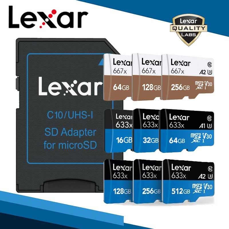 Lexar sd micro 128gb tarjeta de memoria cartao de tarjeta de memoria sd micro tarjeta microsd 256gb envío gratis tf tarjeta sd de 512gb tarjetas de gopro