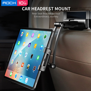 Image 2 - ROCK Car Phone Holder Mount for iPad Mini Pro Tablets Phones Rear Sea Stand Pillow Holder Stand Holder for iPhone держател