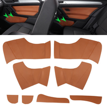 цена на Microfiber Leather Door Slot Cover For VW Golf 7 2014 2015 2016 Interior 8pcs Car Door Panel Slot Cover Sticker Trim