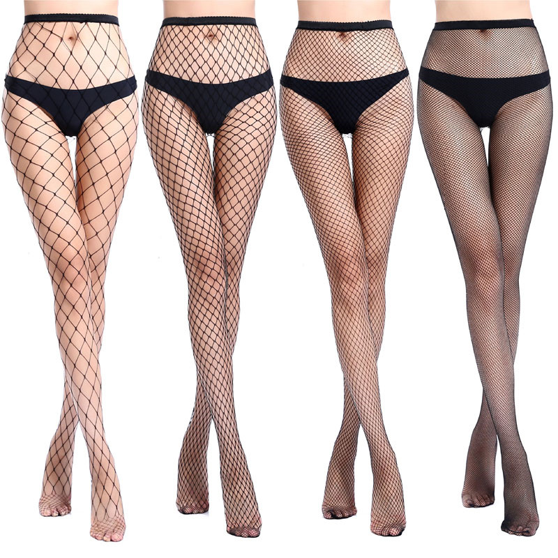 Hollow Out Sexy Pantyhose Black Mesh Stockings Jeans Stretch Bottoming Stocking Fishnet Stockings Tights High Quality Female