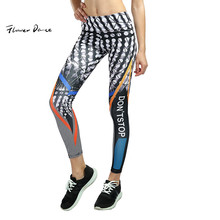 FlowerDance Push Up леггинсы брюки для йоги узкие Леггинсы спортивные женские компрессионные колготки для фитнеса быстросохнущие штаны для йоги