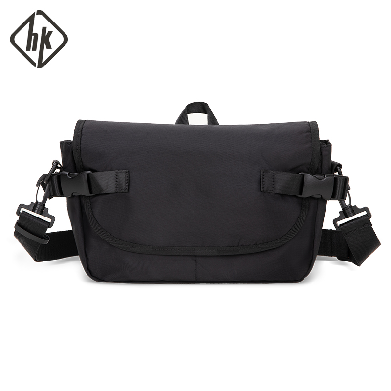 Hk Shoulder Bag Men's Canvas New Fashion Messenger Bag Young Leisure Retro Casual Street Package Hot Selling Bags Male Mochila