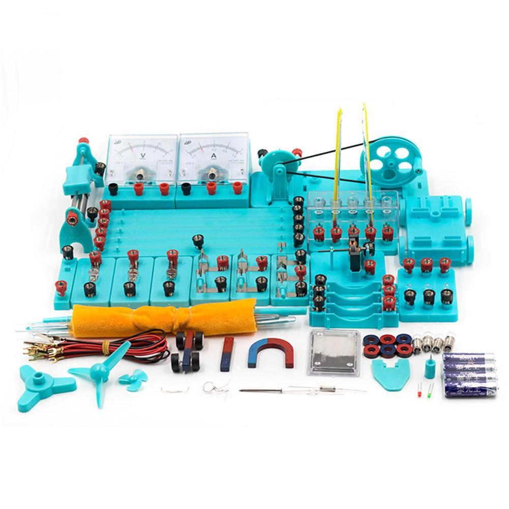 New Physics Labs Electricity Circuit Magnetism Experiment For Junior High School Blocks Kit Funny Toy Physics Development Toys