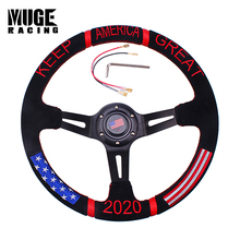 Car-Modified-Accessories Steering-Wheel Universal-Racing Drift Sport Aluminum PU STW022