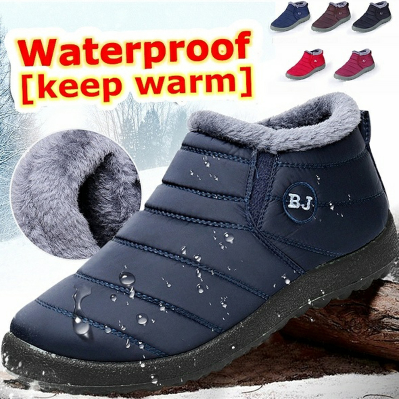 Women Snow Boots Plush New Warm Ankle Boots for Women Winter Boots Waterproof Women Boots Female Winter Shoes Women Booties