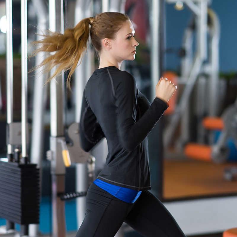 جديد سريعة الجافة تنس طاولة المرأة تي شيرت اللياقة البدنية الجوارب الرياضة دعوى اليوغا تجريب بلوزة تشغيل طويلة الأكمام الإناث تي شيرت