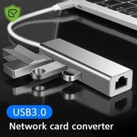Concentrador de red USB tipo C 3 en 1, adaptador Mini USB tipo C 3,0 a RJ45 PD USB 3,0 OTG, Dock para MacBook Air Pro 2020 PC