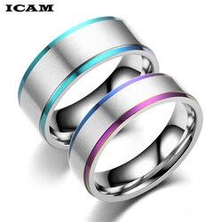ICAM мужские и женские радужные разноцветные ЛГБТ кольца из нержавеющей стали обручальное кольцо Lebian & геев Прямая поставка