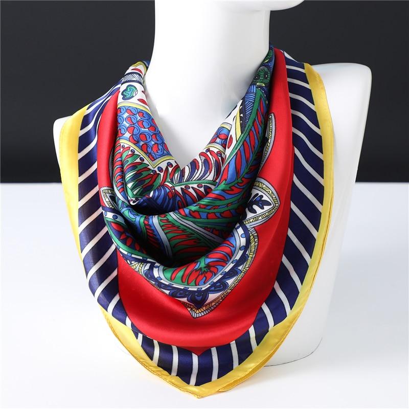 2020 Design Print Scarf Neck Hair Band Women Square Head Scarves Foulard Shawls Lady Wraps Spring Summer Bandana