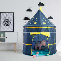 Tenda das crianças dobrável tipi para crianças casa de jogo do bebê wigwam princesa castelo teepee crianças pendurar bandeira tenda quarto das crianças brinquedo