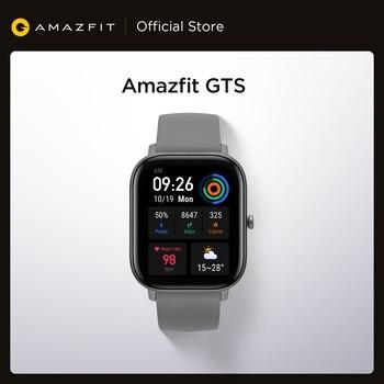 Умные часы Amazfit GTS, водонепроницаемые умные часы для плавания, 5 АТМ, 14 дней без подзарядки