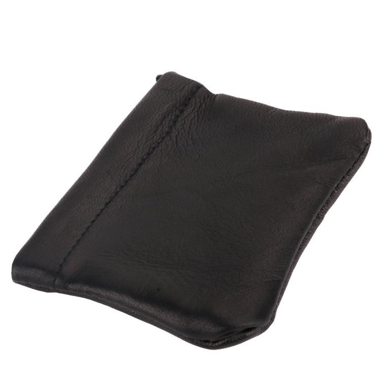 Shrapnel Adjustable Purse PU Leather Shrapnel Bag Automatic Closed Leather Wallet Shrapnel Type Purse