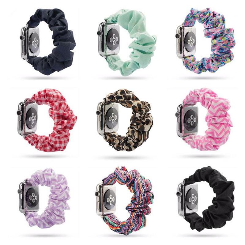 women Strap for <font><b>apple</b></font> <font><b>watch</b></font> band 38mm <font><b>42mm</b></font> <font><b>apple</b></font> <font><b>watch</b></font> 5 4 3 <font><b>2</b></font> 1 Hair Ring Elastic <font><b>pulseira</b></font> watchband iwatch 5 bands 44mm 40mm image