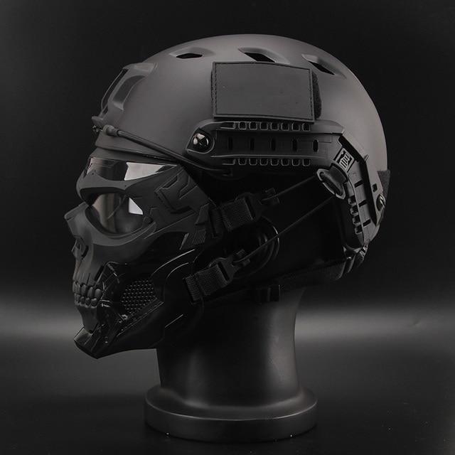 Bulletproof Helmet Bullet Proof Skull Mask  Lightweight Military Tactical Bulletproof Helmet Tactical Painball Riding 4