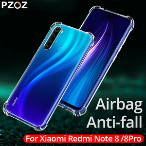 PZOZ Luxury Cover Case for Redmi note 8 silicone shockproof mobile phone bag case for Redmi note 8 pro Transparent phone cases(China)