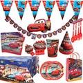Disney автомобили День рождения Декорации Дети пользу Lightning McQueen бумажные стаканчики и тарелки Baby Shower одноразовые столовые приборы