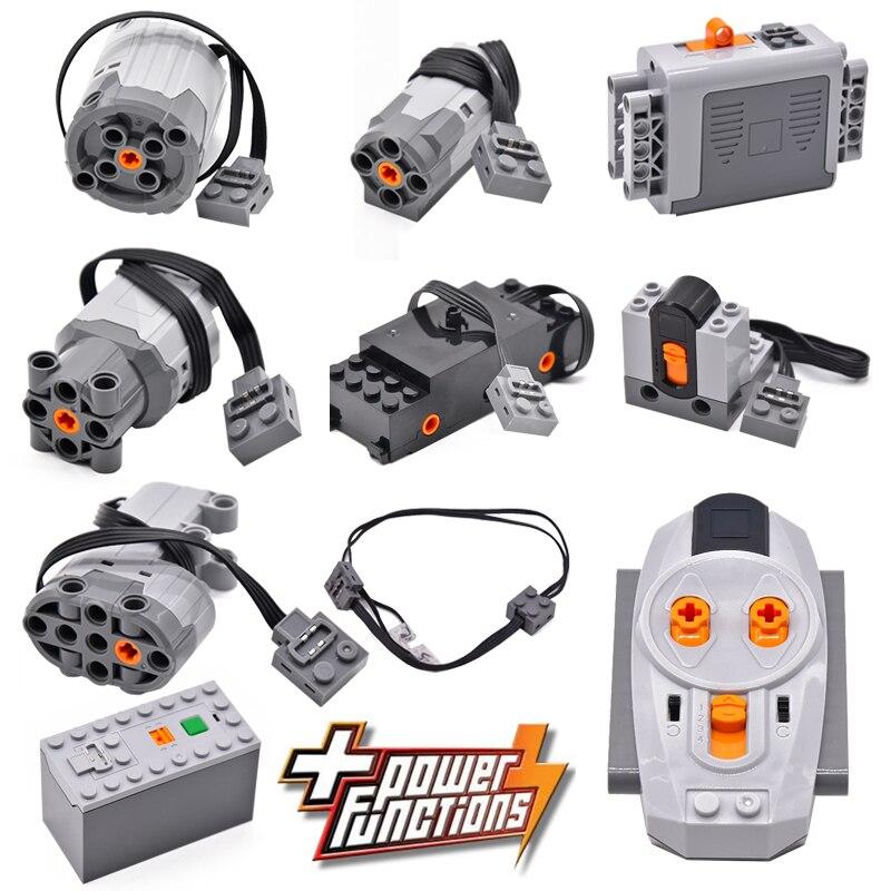 Technical Power Function Servo Motor Polarity Switch IR Remote Control Receiver Battery Box Technic Creator Technicia