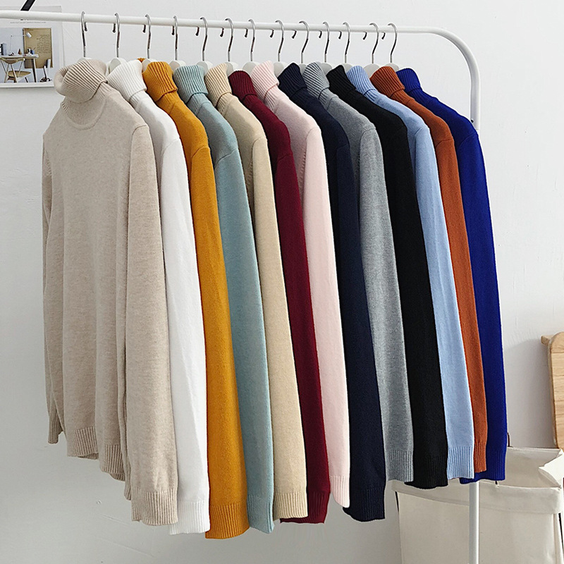 MRMT 2019 Brand New Autumn Winter Men's T Shirt Solid-color High-collar Sweaters T-shirt For Male Casual Slimming Tops Sweaters
