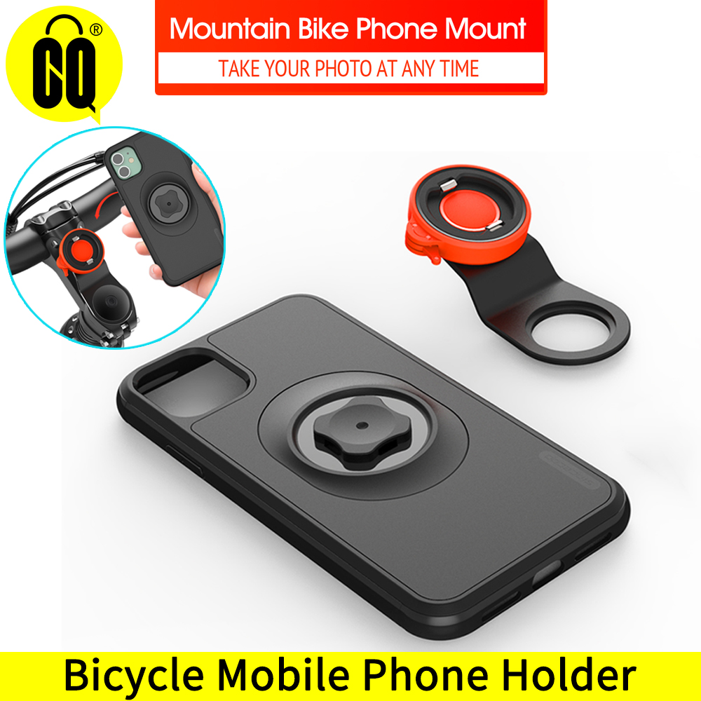 2020 New Mountain Bike Phone Holder For IPhone 11 Pro XsMax X 8 7 Bicycle Handlebar Mount Cell Phone Stand With Shockproof Case