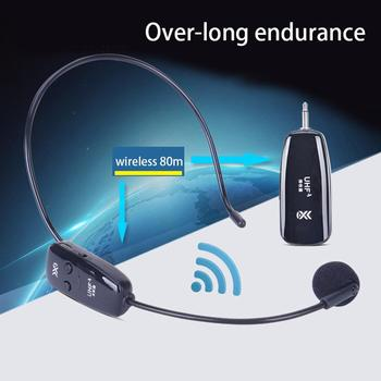 New 1Pc Portable Long Battery Life Durable Wireless Microphone Headset Mic for Voice Amplifier Speaker Teaching Tour Guide portable fm radio loudspeaker with microphone voice amplifier booster megaphone speaker for teaching tour guide sales promotion
