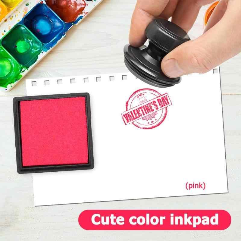 1 PC 4 ซม.หมึก Pad Pad แสตมป์ DIY หัตถกรรมสำหรับ Scrapbooking InkPad สีสันซีลตกแต่งลายนิ้วมือ Stencil การ์ด