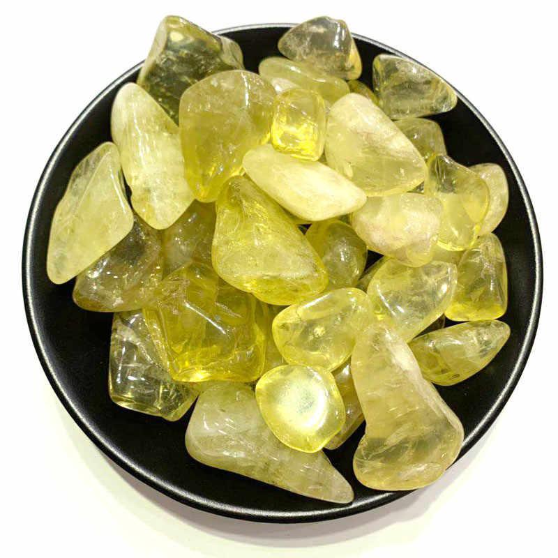 100G Alami Kristal Kuning Kerikil Baku Topaz Batu DIY Dekorasi Rumah Dekorasi Mineral Alami Kristal Kuarsa Penyembuhan Reiki Batu