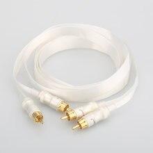 Hi fi посеребренный кабель синий белый heven king позолоченный