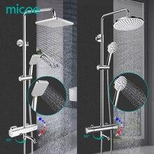MICOE מקלחת סט מקלחת תרמוסטטי מיקסר כרום ברז גוף נחושת רז ליהוק 5 מצב זרבובית