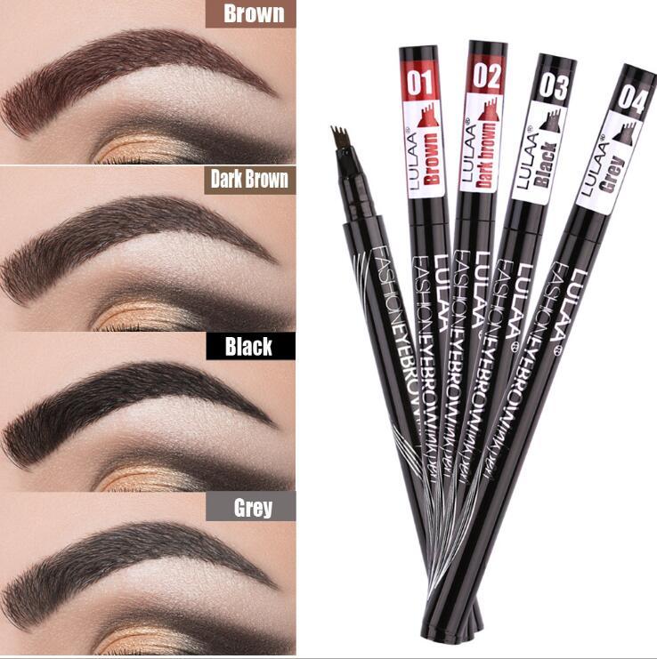 full professional makeup Eyebrow Pencil Eye Brow Tint Makeup Four Colors Brush Gel Cosmetics